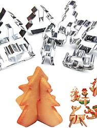 Недорогие -Инструменты для выпечки Нержавеющая сталь 3D / Новогодняя тематика / Своими руками Печенье / Для торта / конфеты Формы для пирожных / Формы для нарезки печенья / Десертные инструменты 8шт