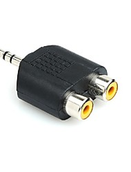 cheap -RCA Male to Dual RCA Female Jack Y Splitter Audio Adapter