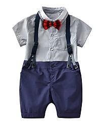 abordables -bébé Unisexe Imprimé Manches Courtes Ensemble de Vêtements
