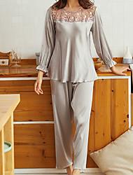 povoljno -Žene U izrez Odijelo Pidžama Jednobojni