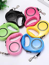 baratos -Cachorros Trelas Portátil / Retratável / Tamanho Ajustável Estampa Colorida Plásticos / Náilon Vermelho / Verde / Azul