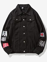 Недорогие -Муж. Джинсовая куртка Уличный стиль - Однотонный