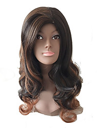 cheap -Synthetic Wig Curly Layered Haircut Synthetic Hair Party Brown Wig Women's Long Capless