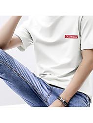 お買い得  -男性用 Tシャツ ベーシック ソリッド / レタード