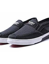 Недорогие -Муж. обувь Тюль Весна & осень Удобная обувь Мокасины и Свитер Серый / Синий