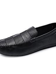 abordables -Homme Chaussures Polyuréthane Eté Confort / Chaussures de plongée Mocassins et Chaussons+D6148 Noir / Gris / Rouge