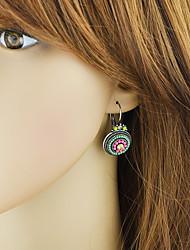 Недорогие -Жен. Через плечо Серьги-слезки - Цветы Классический, Мода Зеленый / Синий Назначение Повседневные Свидание