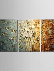 Недорогие -ручная роспись современного абстрактного искусства холст картины павлина стены домашнего декора три панели готовы повесить