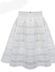 billige -Dame Basale A-linje Nederdele Ensfarvet