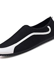 abordables -Homme Chaussures Toile Eté Moccasin / Chaussures de plongée Mocassins et Chaussons+D6148 Rouge / Noir / blanc / Noir / Rouge