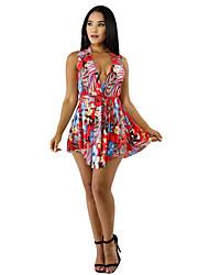 povoljno -Žene A kroj Haljina Cvjetni print Iznad koljena
