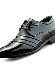 povoljno -Muškarci Cipele Mekana koža Proljeće / Jesen Udobne cipele / svečane cipele Oksfordice Crn