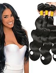 economico -3 pacchetti Malese Ondulato Cappelli veri Ciocche a onde capelli veri / Extension di capelli umani 8-28 pollice Colore Naturale Tessiture capelli umani Senza tappo Disegni alla moda / Migliore