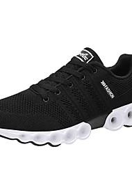 cheap -Men's Rubber / Mesh Spring / Summer Comfort Athletic Shoes Walking Shoes Black / Dark Blue / Light Grey