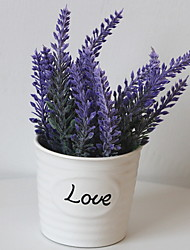 cheap -Artificial Flowers 1 Branch Classic Rustic Lavender Tabletop Flower