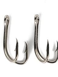 baratos -50 pcs Unha-Pendurada Fina / Ponto Curvado Pesca de Mar / Isco de Arremesso / Pesca no Gelo Anzol de Minhoca Aço de Carbono Venda imperdível