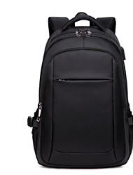 preiswerte -Unisex Taschen Segeltuch Rucksack Reißverschluss Blau / Schwarz / Rote