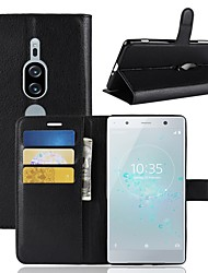 cheap -Case For Sony Xperia XZ2 / Xperia XZ2 Premium Wallet / Card Holder / Flip Full Body Cases Solid Colored Hard PU Leather for Sony Xperia XZ2 Compact / Sony Xperia XZ2 Premium / Xperia XZ2