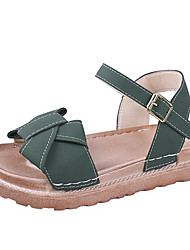 お買い得  -女性用 靴 PUレザー 夏 コンフォートシューズ サンダル クリーパーズ ブラック / イエロー / アーミーグリーン
