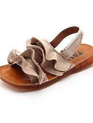 abordables -Fille Chaussures Polyuréthane Printemps été Confort Sandales Scotch Magique pour Noir / Beige / Vert