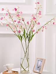 Недорогие -Искусственные Цветы 4.0 Филиал Классический / Односпальный комплект (Ш 150 x Д 200 см) Простой стиль / Пастораль Стиль Колокольчик / Вечные цветы Букеты на стол