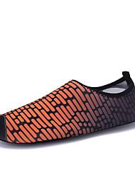 お買い得  -女性用 靴 弾性布 夏 コンフォートシューズ アスレチック・シューズ ウォーターシューズ / 全天候型トレッキングシューズ フラットヒール クローズトゥ レッド