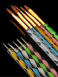 abordables -10pcs Nail Art Tool herramientas que salpican Cepillos de uñas Diseños de Moda / Multicolor / Adorable arte de uñas Manicura pedicura Plástico y metal / El plastico Profesional / Universal Boda