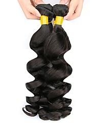 cheap -3 Bundles Peruvian Hair Wavy Human Hair Natural Color Hair Weaves / Hair Bulk / Human Hair Extensions 8-28 inch Natural Color Human Hair Weaves Capless Best Quality / Hot Sale / For Black Women Human