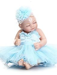 abordables -NPKCOLLECTION Poupées Reborn Bébés Fille 12 pouce Silicone complet / Silicone / Vinyle - réaliste Pour enfants Fille Cadeau