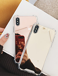 billige -Etui Til Apple iPhone X / iPhone 8 Stødsikker / Spejl Bagcover Ensfarvet Hårdt PC for iPhone X / iPhone 8 Plus / iPhone 8