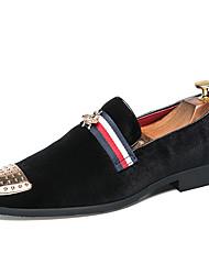 abordables -Homme Chaussures Daim Printemps Chaussures formelles Mocassins et Chaussons+D6148 Noir / Rouge / Mariage / Soirée & Evénement