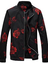 cheap -Men's Plus Size Jacket - Floral / Botanical Stand / Long Sleeve