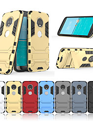 cheap -Case For Motorola MOTO G6 / Moto G6 Plus with Stand Back Cover Solid Colored Hard PC for MOTO G6 / Moto G6 Plus