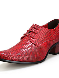 abordables -Homme Chaussures Formal Cuir Eté Oxfords Noir / Marron / Rouge / De plein air