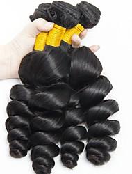 cheap -Peruvian Hair Wavy Natural Color Hair Weaves / Human Hair Extensions 4 Bundles 8-28 inch Human Hair Weaves Capless Fashionable Design / Best Quality / New Arrival Natural Black Human Hair Extensions