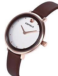 baratos -Mulheres Relógio de Pulso Relógio Casual / Adorável PU Banda Casual / Fashion Preta / Branco / Marrom