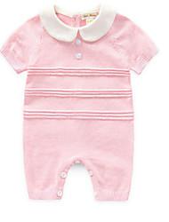 billige -Baby Pige Ensfarvet Kort Ærme En del