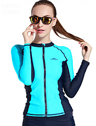 cheap -SBART Women's Diving Rash Guard SPF50, UV Sun Protection, Quick Dry Chinlon Long Sleeve Swimwear Beach Wear Sun Shirt / Top Diving / Surfing / Stretchy