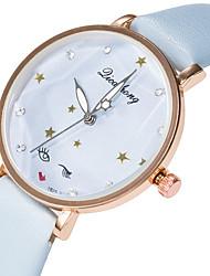 baratos -Mulheres Relógio de Pulso Relógio Casual / Adorável PU Banda Fashion / Elegante Preta / Branco / Azul / Aço Inoxidável