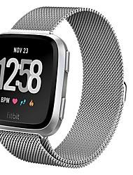 economico -Cinturino per orologio  per Fitbit Versa Fitbit Cinturino sportivo / Cinturino a maglia milanese Metallo Custodia con cinturino a strappo