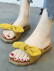 cheap -Women's Slippers Slippers / House Slippers Ordinary Lamb Fur solid color