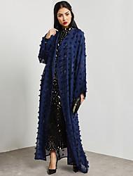 baratos -Mulheres Abaya Moda de Rua / Sofisticado - Sólido / Voile / Transparente Renda / Com Transparência