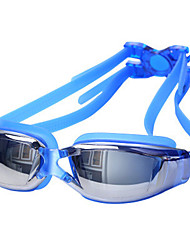 cheap -Swimming Goggles Waterproof / Anti-Fog / Anti-UV Alloy Coating / PC White / Red / Gray