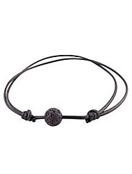 cheap -Women's Volcanic Stone Double Twine Wrap Bracelet - Ball Sweet, Fashion Bracelet Black For Date / Street
