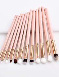 cheap -11pcs Makeup Brushes Professional Makeup Brush Set / Blush Brush / Eyeshadow Brush Nylon fiber Soft / Full Coverage Wooden / Bamboo