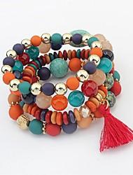 cheap -Women's Crystal Layered / Stack Strand Bracelet - Fashion, Multi Layer Bracelet White / Black / Rainbow For Ceremony / Date