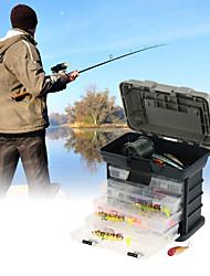 abordables -Caja de pesca Caja de equipamiento A Prueba de Fugas / Al Aire Libre 4 Bandejas PÁGINAS / ABS 26 cm*17 cm