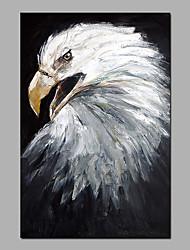 abordables -Peinture à l'huile Hang-peint Peint à la main - Abstrait / Pop Art Moderne Sans cadre intérieur / Toile roulée
