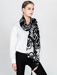 cheap -Women's Vintage / Holiday Rectangle - Floral Black & White, Tassel