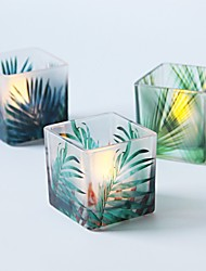 cheap -Modern / Contemporary / Scenery Glass Candle Holders Candelabra 3pcs, Candle / Candle Holder